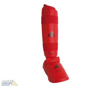 Защита adidas WKF Shin & Removable Foot размер M, красная