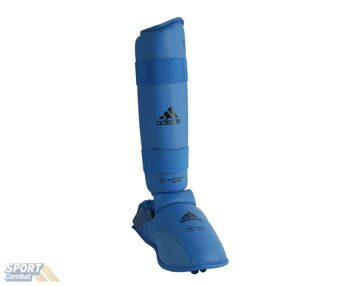 Защита adidas WKF Shin & Removable Foot размер M, синяя